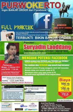 INFO WORKSHOP Facebook & Instagram Marketing Purwokerto 12 Oktober 2014