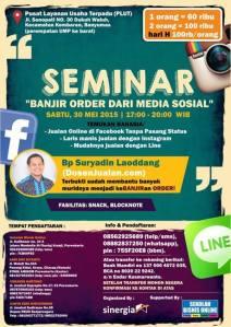 Seminar Bisnis Online di Purwokerto, Memanfaatkan Media Sosial (Facebook, Line dan Instagram) Banjir Order dari Media Sosial